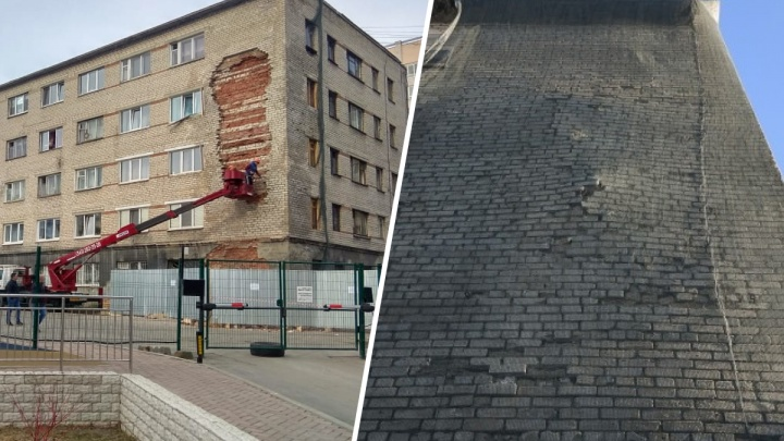 Общежитие во Втузгородке, где вздулась стена, начали ремонтировать