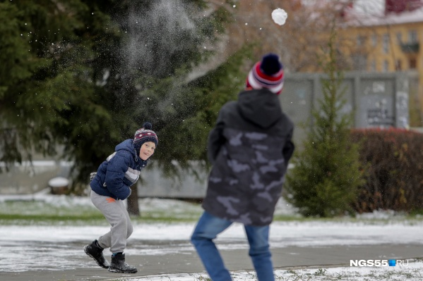Снега в Омске пока на один зубок. На снежок еще хватит, а на снеговика — уже нет