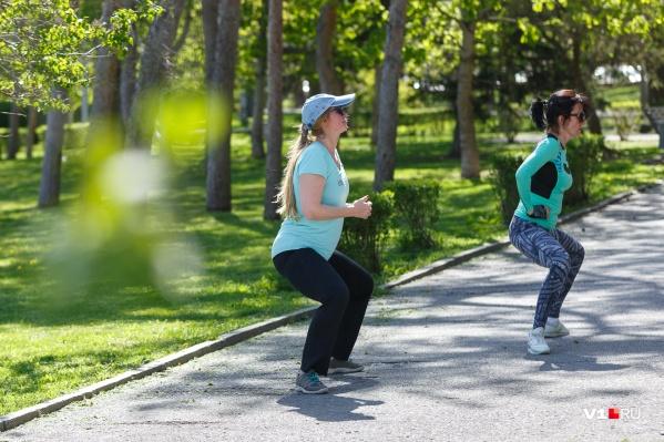 Самое время заняться физкультурой на открытом воздухе