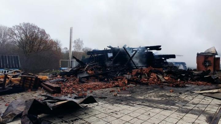 Прокуратура Ярославской области начала проверку по факту пожара в гимназии под Переславлем