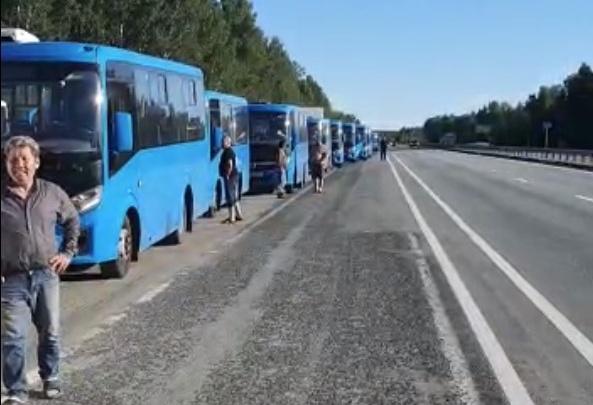 В Челябинск пригнали синие маршрутки из Подмосковья