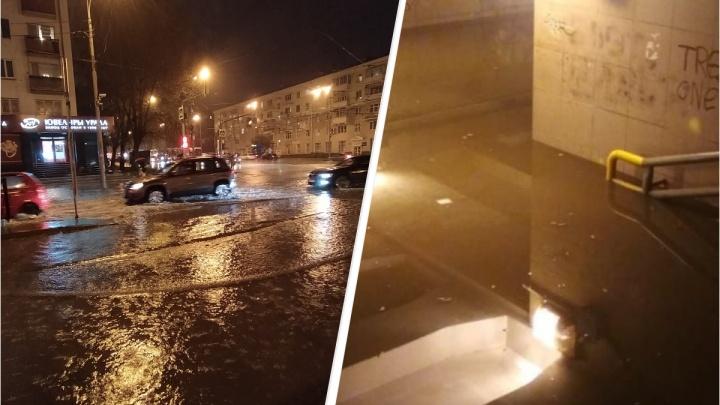 «Ливневки справились»: мэр Екатеринбурга заявил, что город выдержал испытание сильным дождем