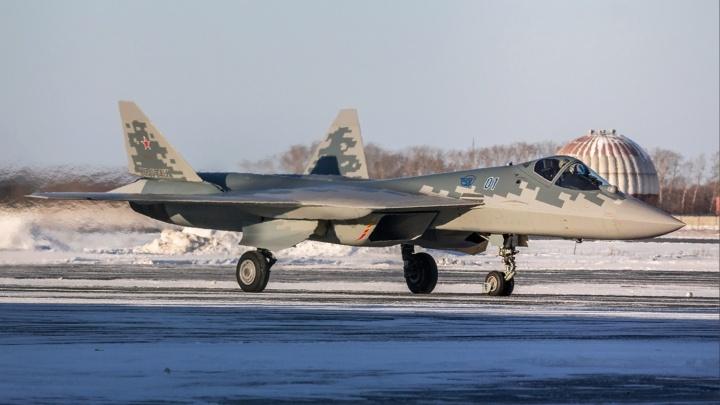 В небе над Новосибирском заметили засекреченный истребитель пятого поколения