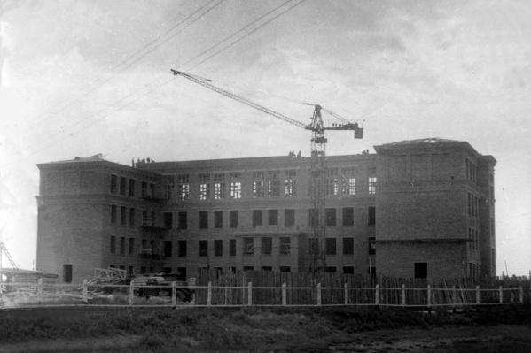 У тюменца сохранились архивные снимки со строительства той самой школы
