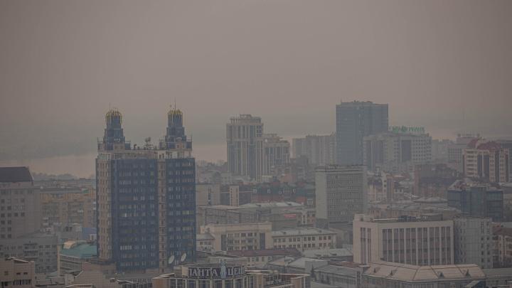 Город как в тумане: показываем в 10 кадрах, как Новосибирск задыхается от пыли