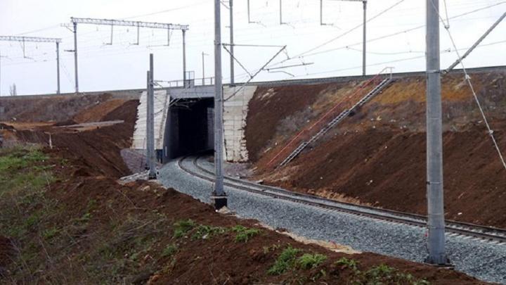 В Волгограде построили 84-метровый железнодорожный тоннель