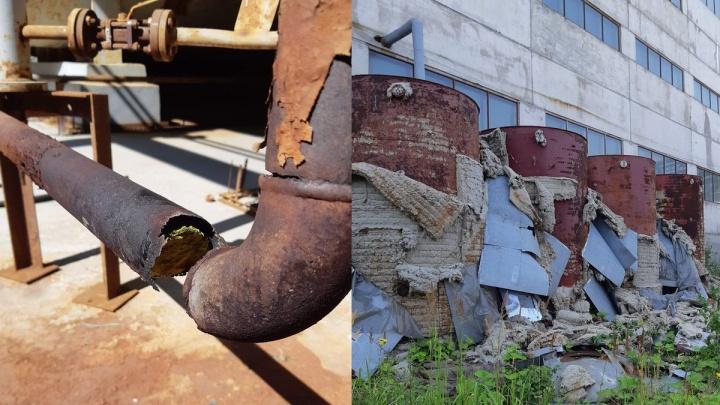 Емкости с опасными химикатами с железногорского завода-банкрота передали Росимуществу