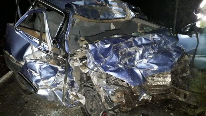 На Белорецкой трассе столкнулись фура MАN и Daewoo Nexia. Водитель легковушки погиб
