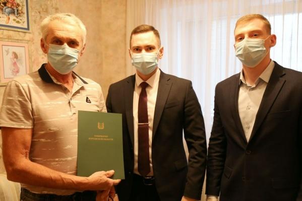 Курганец Андрей Половников получил благодарность от губернатора Вадима Шумкова