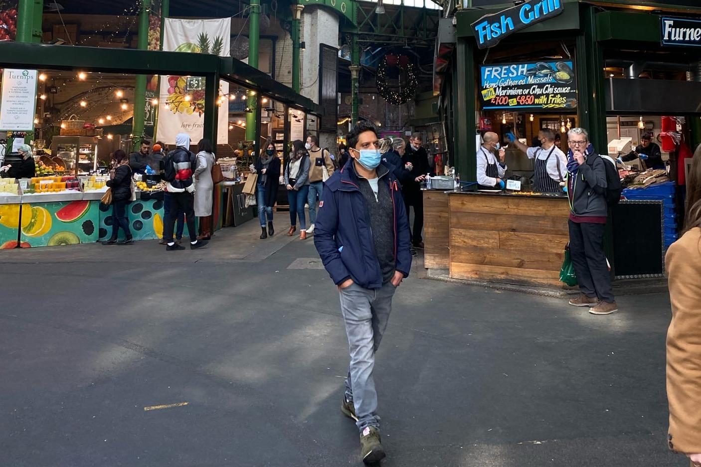 Знаменитый рынок Borough Market открыт, но здесь непривычно мало людей