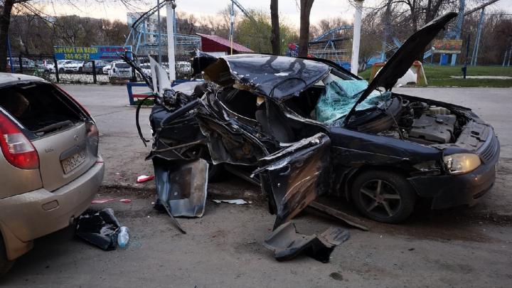 «Улетел в парковку и сбежал»: очевидцы — о ДТП около парка «Дружба» в Самаре