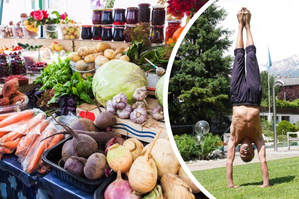Основу рациона новосибирца Алексея Тябина составляют овощи, фрукты, орехи