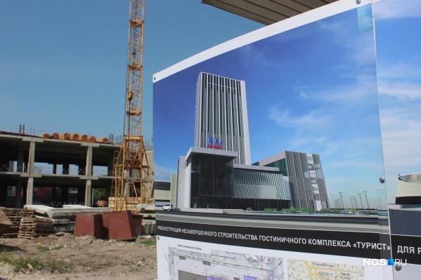Уже к концу года здание должно принять примерно такой вид, как на картинке справа