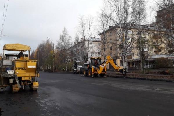 В ближайшее время на участке проспекта начнут укладывать верхнюю часть асфальта