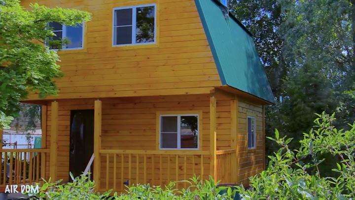Кто сможет построить большой дачный дом за неделю (видеообзор)