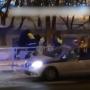 В Уфе четыре гаишника гоняли дебоширов по улице в попытке их задержать, момент попал на видео