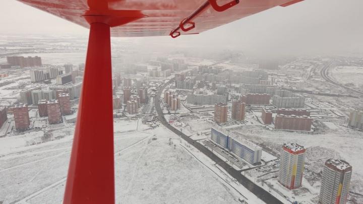 В ночь на четверг в Красноярск вернутся ветра и сильный снег