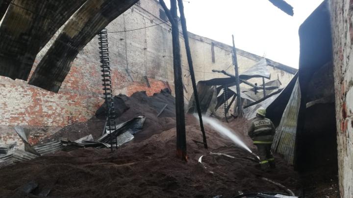 В Уфе произошел пожар в здании, признанном объектом культурного наследия