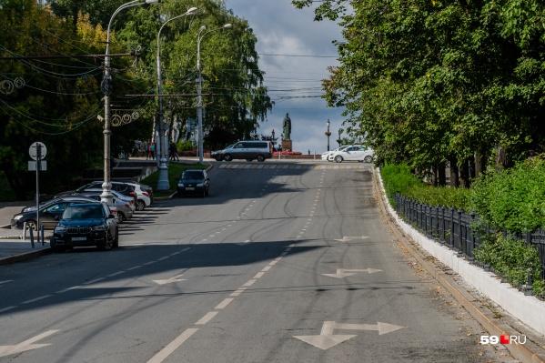 Один из перекрываемых участков дороги — начало Компроса