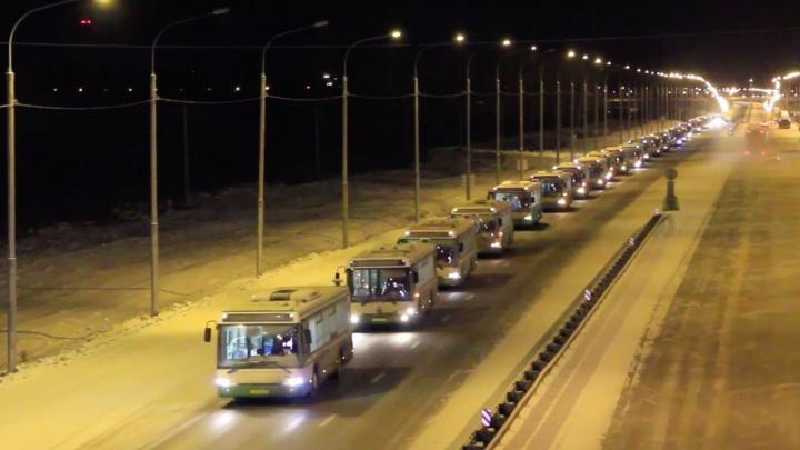 Красноярску подарили 30 больших автобусов с дорог Москвы