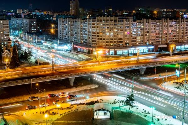 Вечерний метромост