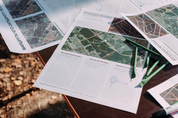 Горожанам покажут, как будет выглядеть входная группа и где появятся новые пешеходные тропы