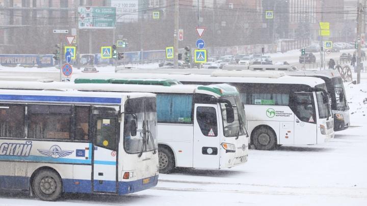 В Челябинской области из-за метели и снегопада отменили междугородние автобусные рейсы