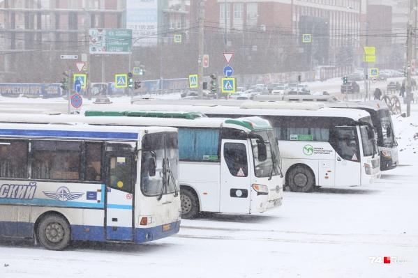 Продажа билетов на междугородние автобусные рейсы приостановлена из-за снегопада