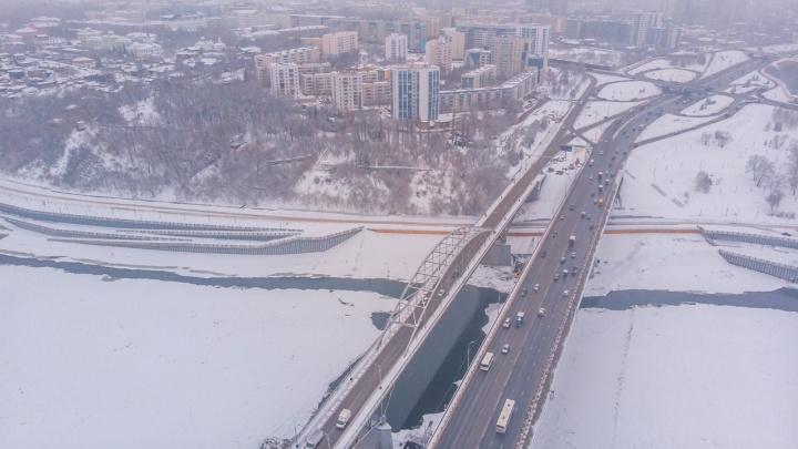 В Уфе из-за строительства третьего моста в сторону аэропорта 14 декабря перекроют движение