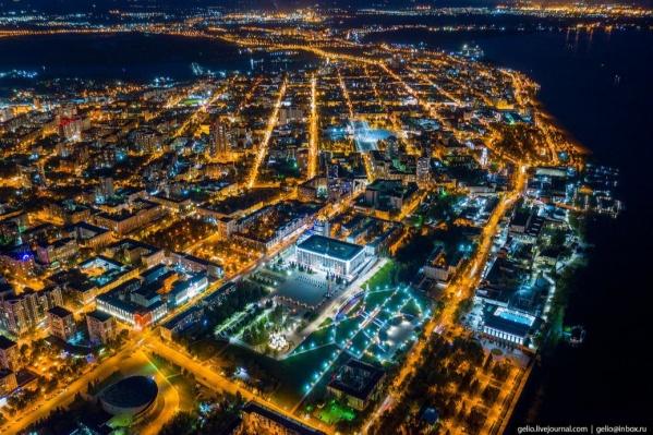 «Космический город на Волге» — так назвал это фото сам автор
