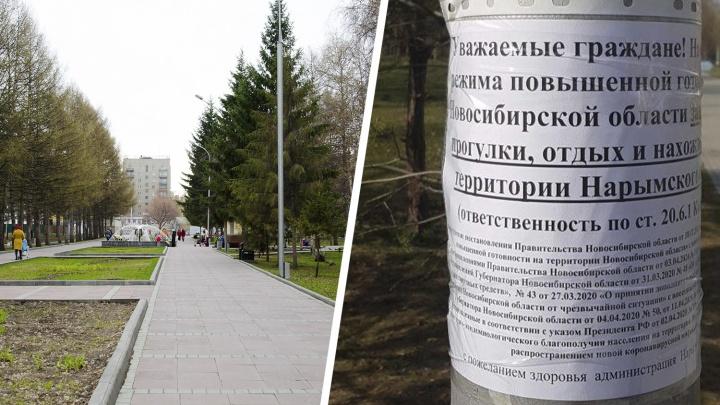 В Новосибирске закрывают парки и скверы — проверять гуляющих людей будет полиция