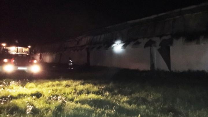 В Челябинской области на птицефабрике ночью вспыхнул пожар