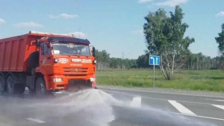 В Зауралье на федеральных трассах ограничили движение большегрузов
