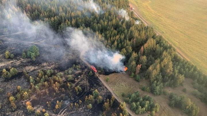 В Цимлянском районе потушили крупный пожар, который полыхал три дня