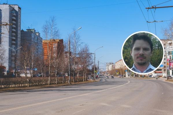 Данила Ларинин живет в микрорайоне Парковом