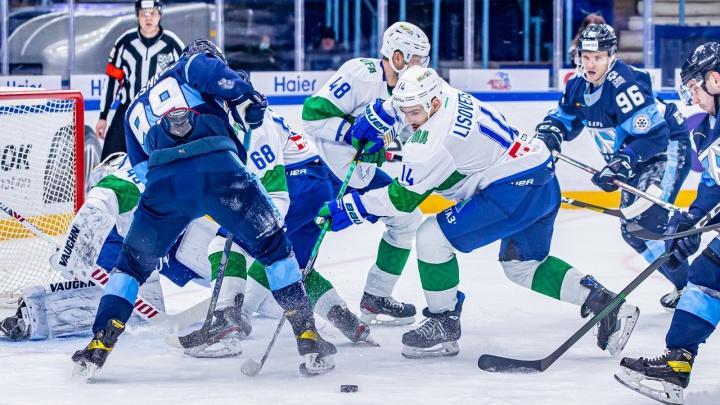 Хоккейная «Сибирь» проиграла в домашнем матче уфимскому «Салавату Юлаеву»