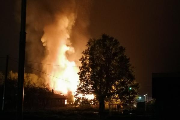 Пожар на берегу Плещеева озера