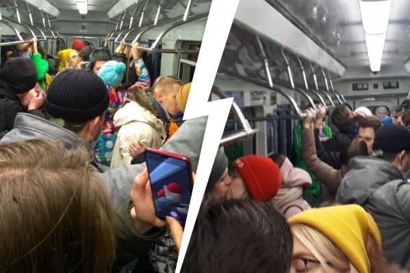 Организаторы акции хотят привлечь внимание к тому, что после 23:00 нельзя сходить на концерт или в бар, а в общественном транспорте можно спокойно толпиться