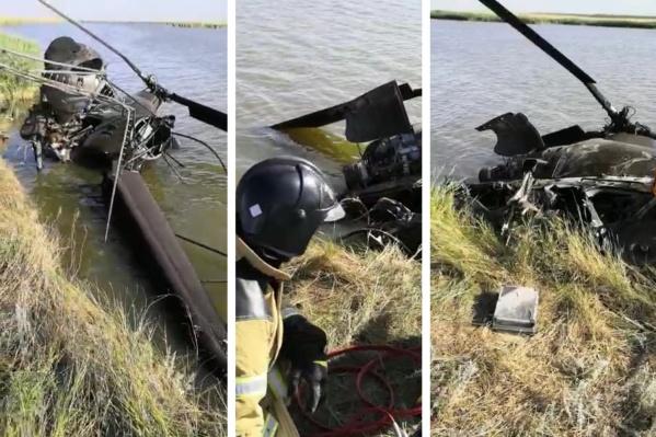 Бортмеханик после падения не смог выбраться из кабины и захлебнулся