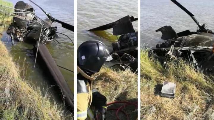 «Кабину смяло, механик захлебнулся»: подробности крушения вертолёта в Ростовской области