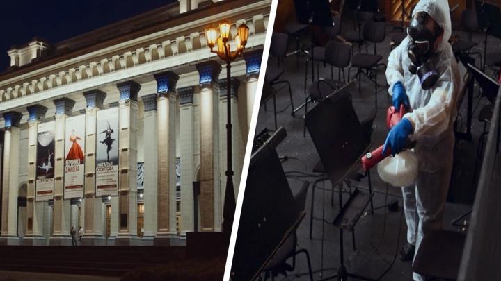 «Особый режим дезинфекции»: в НОВАТе рассказали, как театр борется с ковидом