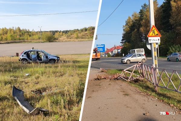 ДТП произошло в Заволжском районе Ярославля