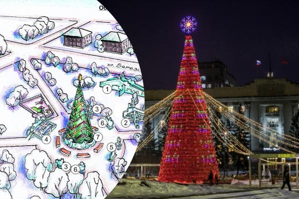 Праздничные локации появятся на площади Революции и в Центральном парке