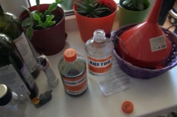Горючие жидкости использовались как компоненты самодельных боеприпасов
