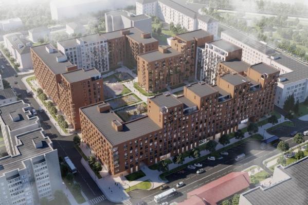 По проекту ЖК«Сердце Ярославля» запланировано возведение двух жилых домов переменной этажности