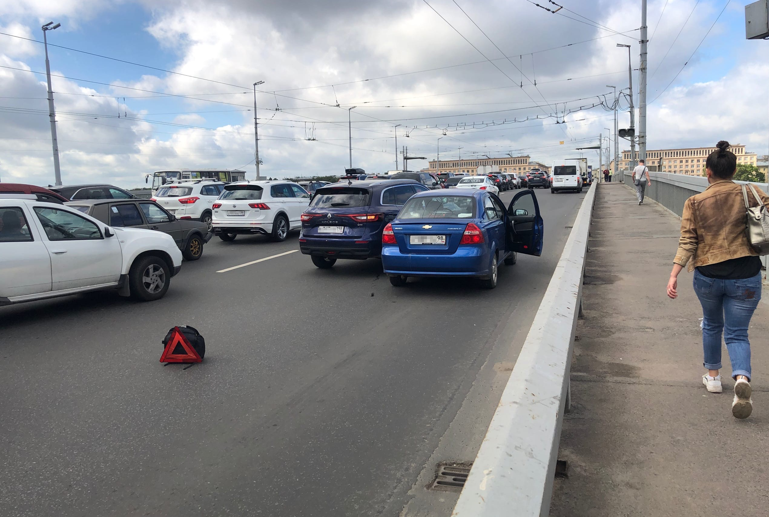 ДТП на Володарском мосту.