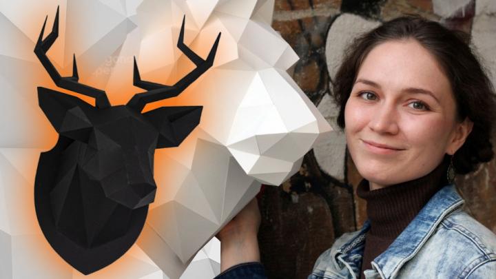 Открыла бизнес на 100 тысяч: как бумажные головы оленей прославили уралочку на весь мир