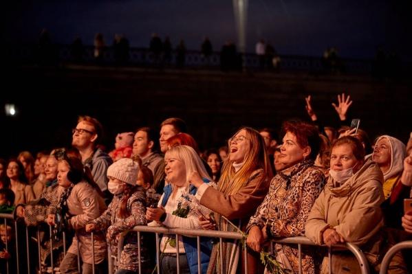 Зрители на фестивале «Скрепа» в Екатеринбурге