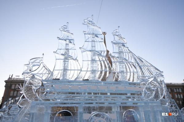 В фестивале ледовых скульптур будут участвовать семь команд