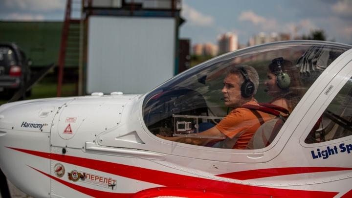 Хозяин неба. Летаем над Новосибирском с пилотом, который оставляет загадочные надписи в воздухе